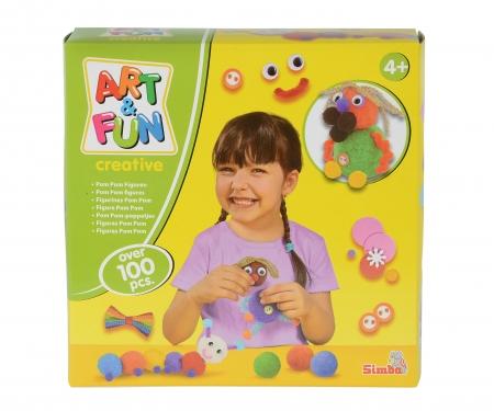 simba Art&Fun Pom Pom Figuren gestalten