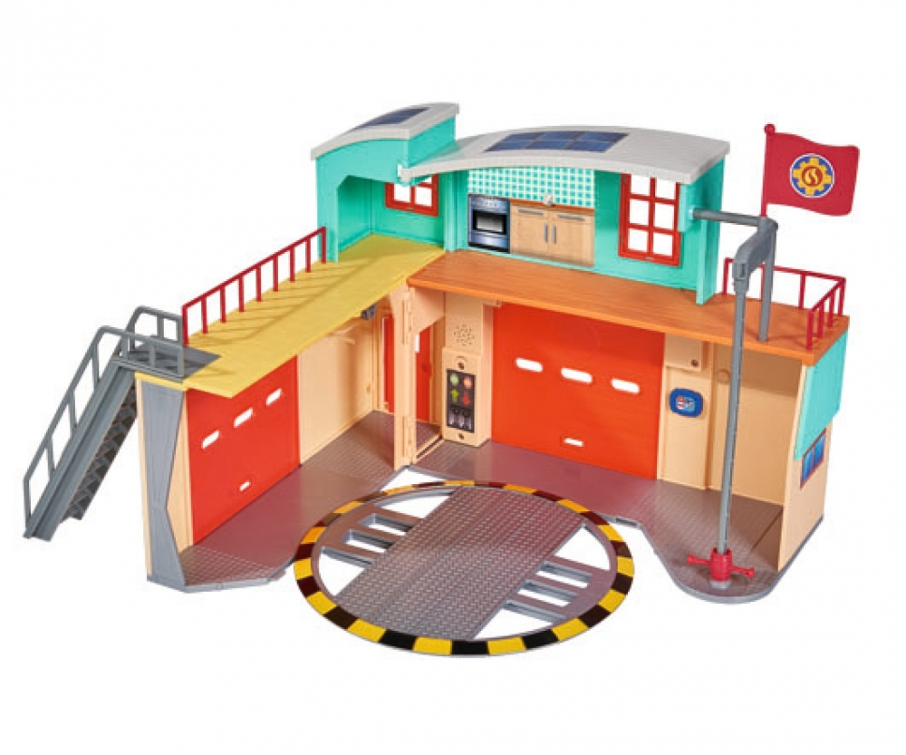 sam new firestation with figurine playsets themes. Black Bedroom Furniture Sets. Home Design Ideas