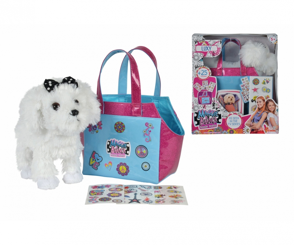 Maggie bianca cagnolina luxy con borsetta da for Disegni da stampare maggie e bianca