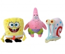 simba Sponge Bob Plush Figurines, 3-ass.