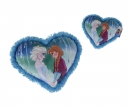 simba Frozen Heart Cushion with Anna+Elsa