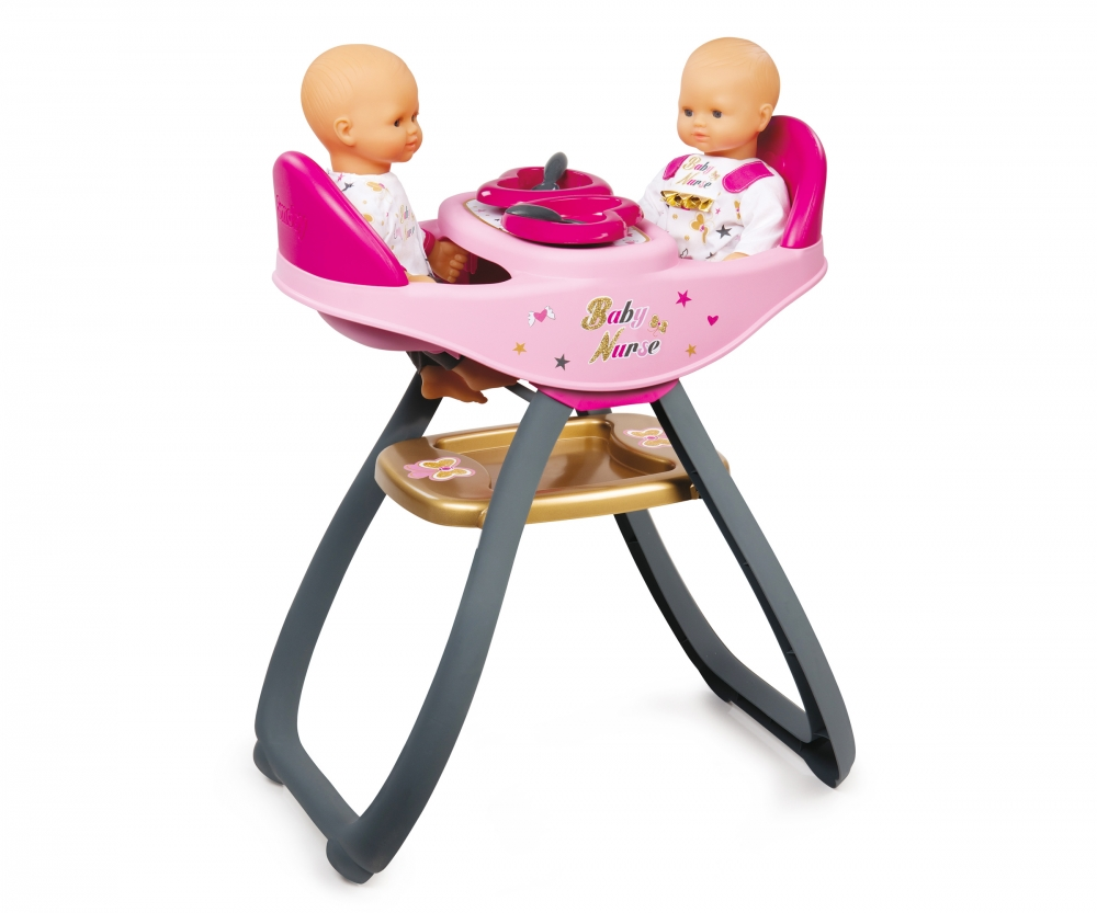 Bn twin highchair baby nurse doll accessories for Chaise haute toys r us