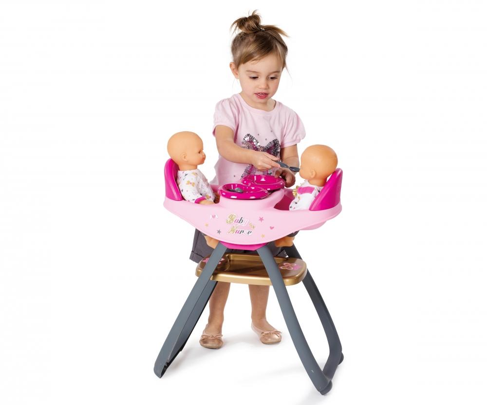 bn chaise haute jumeaux baby nurse accessoires de poup es produits. Black Bedroom Furniture Sets. Home Design Ideas