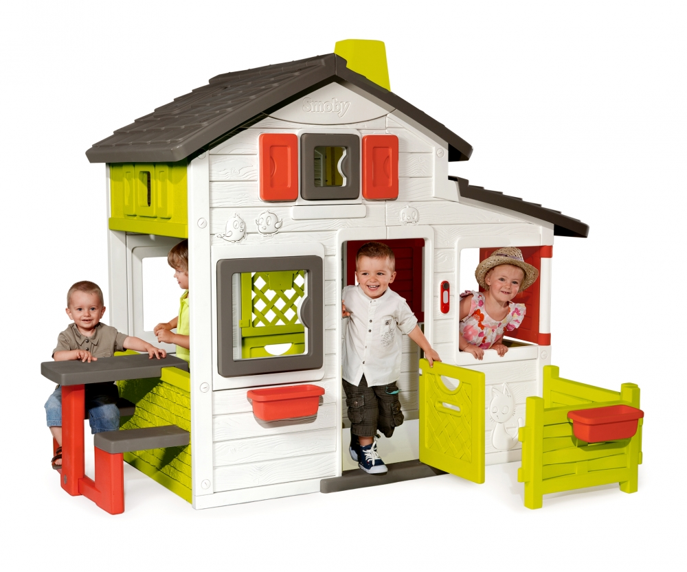 Friends house playhouse houses outdoor products - Casita con tobogan para ninos ...