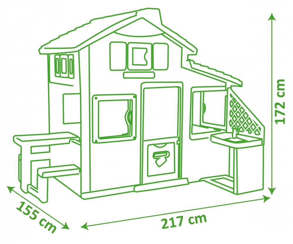 friends haus mit sommerk che spielh user outdoor. Black Bedroom Furniture Sets. Home Design Ideas