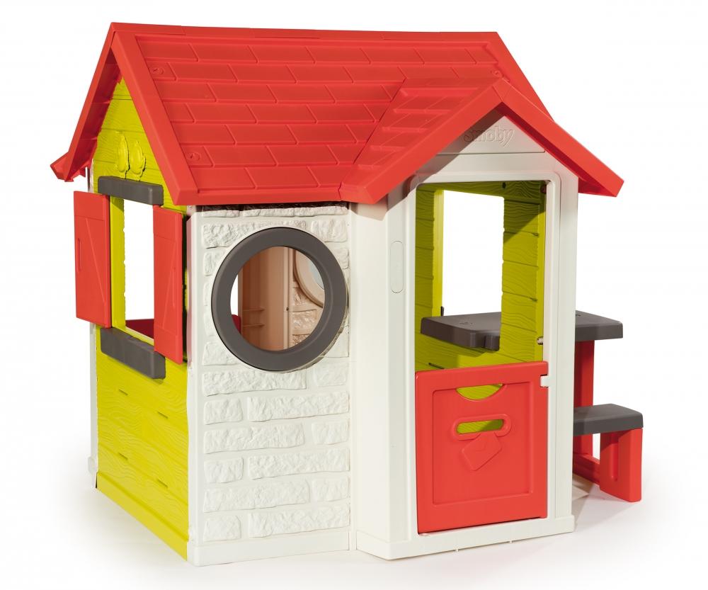 mein haus mit picknicktisch spielh user outdoor marken produkte. Black Bedroom Furniture Sets. Home Design Ideas