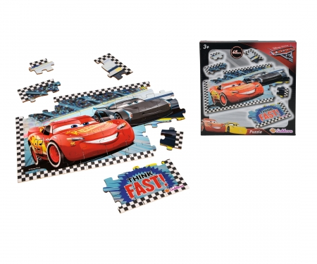 Cars 3 Shaped Puzzle