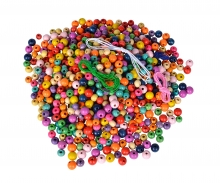 EH Wooden Beads Set in Bucket