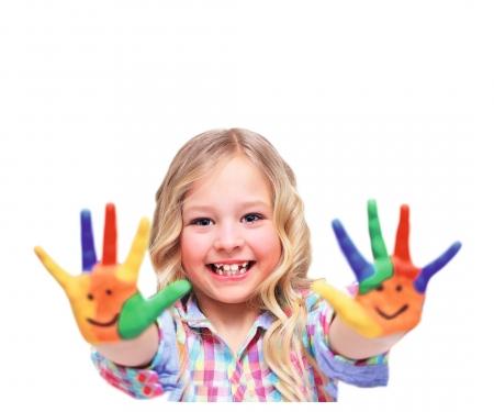 A&F Malen mit Fingerfarben