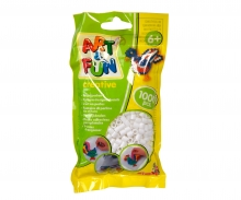 Art & Fun 1.000 Bügelperlen im Beutel weiss