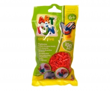 Art & Fun 1.000 Bügelperlen im Beutel rot