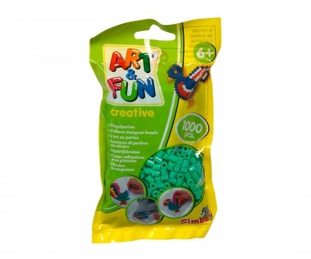 Art & Fun 1.000 Ironing Beads in Bag green