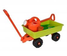 Hand Cart with Garden Tools