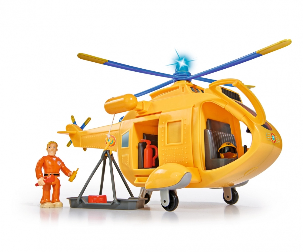 sam helicopter wallaby ii with figurine fireman sam. Black Bedroom Furniture Sets. Home Design Ideas