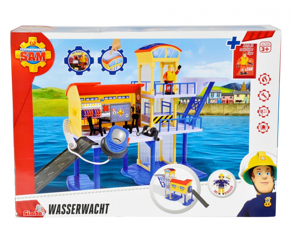 sam ocean rescue centre incl 2 figurine fireman sam. Black Bedroom Furniture Sets. Home Design Ideas