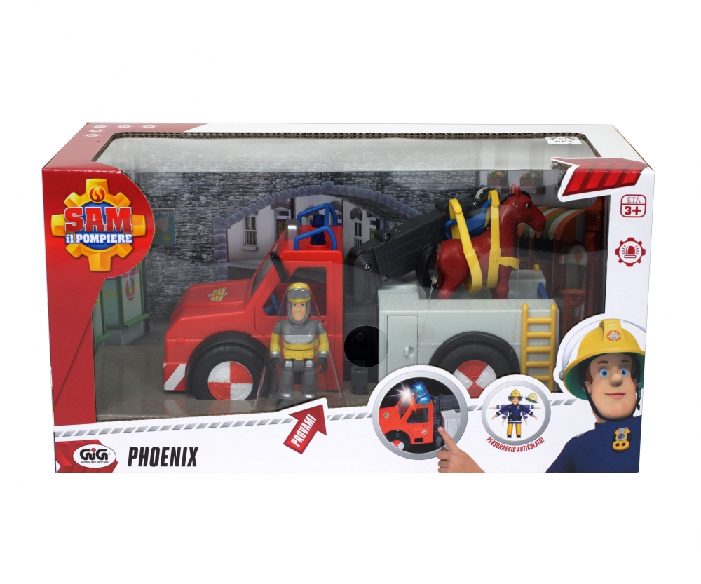 sam phoenix figurine et cheval inclus sam le pompier stars h ros th mes. Black Bedroom Furniture Sets. Home Design Ideas