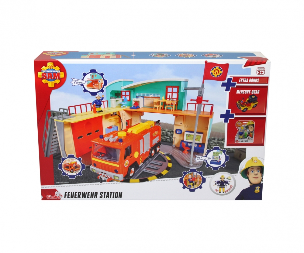 sam new firestation with figurine fireman sam brands. Black Bedroom Furniture Sets. Home Design Ideas