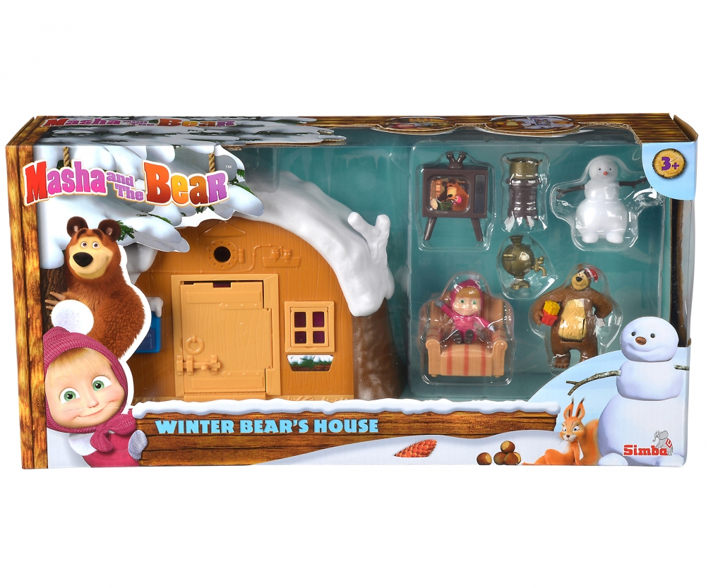 masha play set winter bear 39 s house masha and the bear