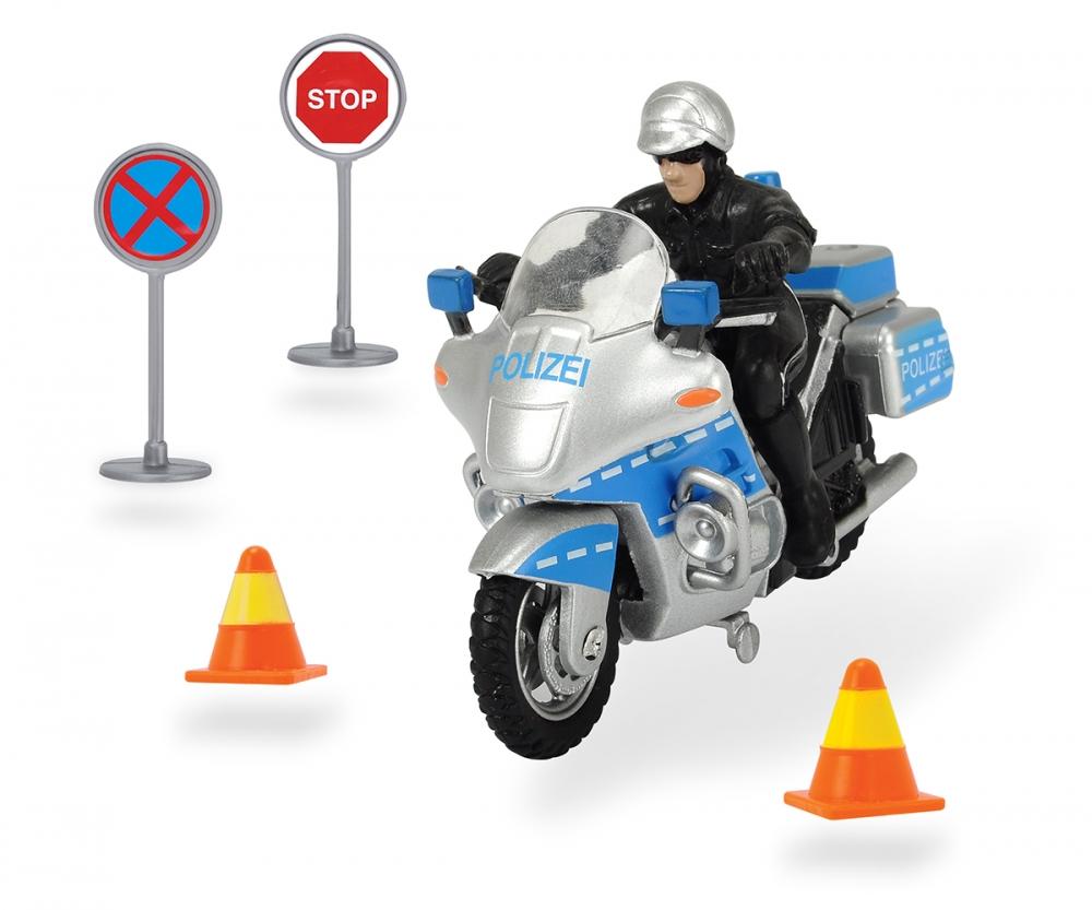 police bike set mechanical shop dickietoys de