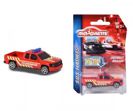 Majorette SOS Flasher Chevrolet Silverado Feuerwehr