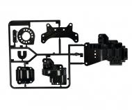 B-Parts Gearbox rear Black TA-01/TA-02