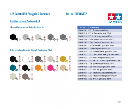 1/12 1199 Panigale S Tricolore