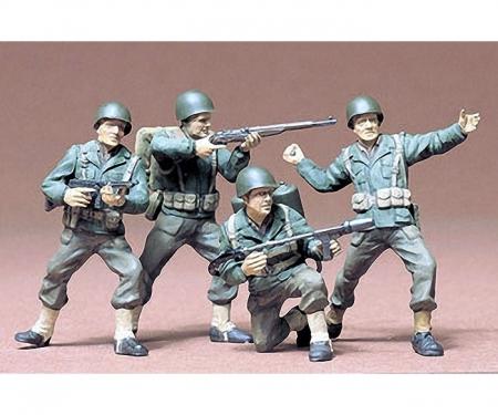 1:35 WWII Figuren-Set US Army Infant.(4)