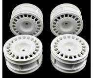 1:10 Rally Dish Wheel white (4) 26mm/+2