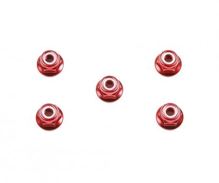 4mm Alum. Flanged Lock Nut Rot Anod. (5)
