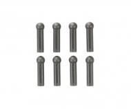 TRF Kugelpfannen 5mm verstärkt grau (8)
