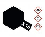 X-18 Semi Gloss Black 23ml