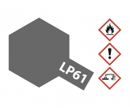 LP-61 Metallic Grau matt 10ml (VE6)