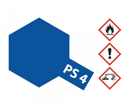 PS-4 Blue Polycarbonate 100ml