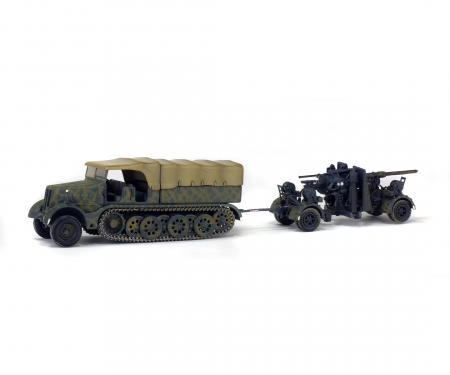 1:72 FAMO Zugmaschine mit Flak 36/37 88 mm (1945)