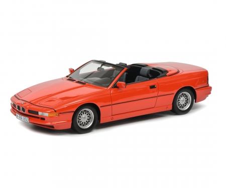 BMW 850i Cabriolet, red, 1:18