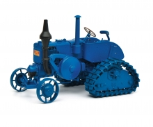 Lanz Bulldog half-caterpillar, blue, 1:18