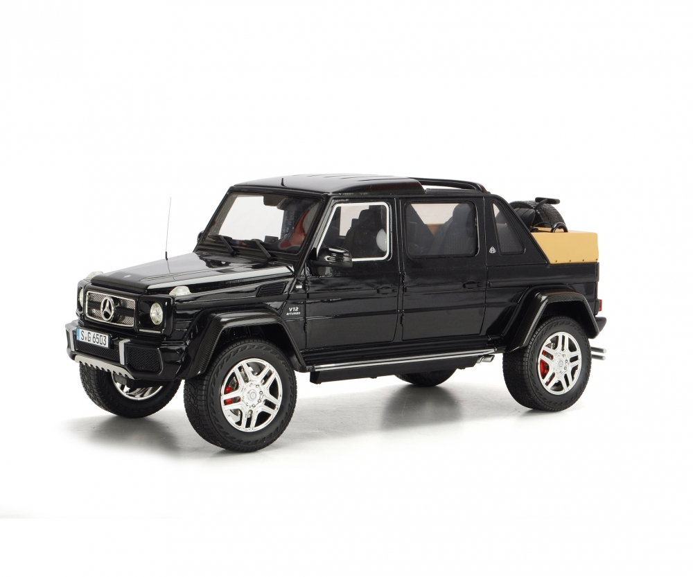 mercedes-maybach g650 landaulet, black, 1:18 - pro.r 18 - car models