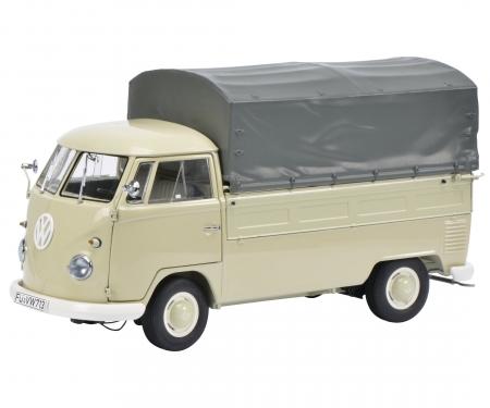 VW T1b pick-up with tarpaulihn, beige 1:18