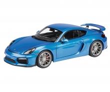 Porsche Cayman GT4, blue metallic, 1:18