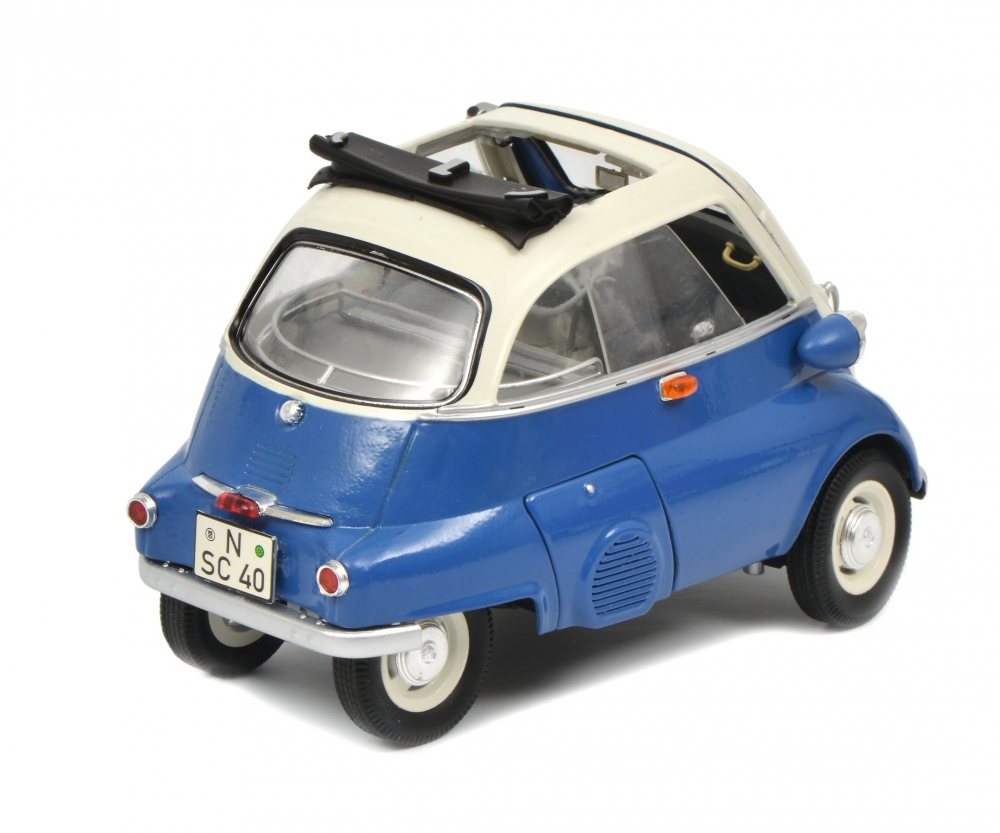 bmw isetta export blue grey 1 18 edition 1 18 car models schuco models. Black Bedroom Furniture Sets. Home Design Ideas