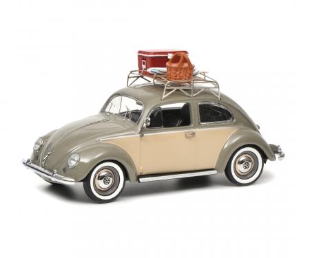 """VW Käfer Ovali """"Picknick"""", grey beige, 1:43"""