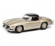 Mercedes-Benz 300 SL Roadster with Hardtop, champagner black, 1:43
