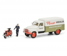 "Hanomag L28 ""Kreidler"" with Kreidler Florett and driver, 1:43"