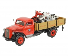 "Opel Blitz ""HOREX"" pick-up and 2x Horex Regina 1:43"
