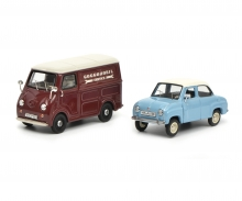 "Set ""Goggomobil"" Goggo Limousine and Goggo box van, 1:43"