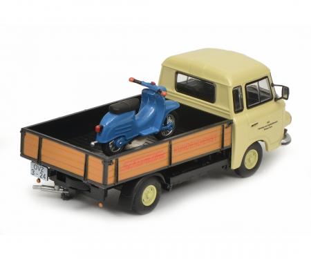 """Barkas B1000 Pritschenwagen """"Schwalbe-Kundendienst"""", 1:43"""