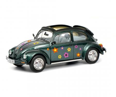 """VW Käfer Open Air """"Blumen-Dekor"""", green 1:43"""