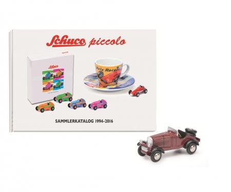 Set Piccolo-Sammlerkatalog 1994-2016 hardback with Piccolo Mercedes-Benz SSKL
