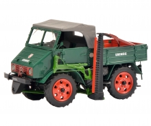 Mercedes-Benz Unimog 2010 with cutter bar, green 1:32