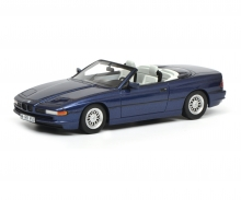 BMW 850i convertible, blue, 1:43
